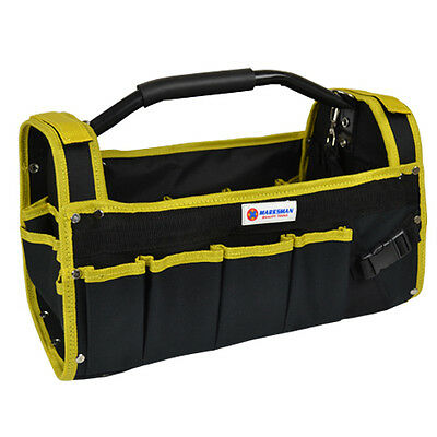 "19"" Heavy Duty Multi-Purpose Diy Tool Storage Bag Case Holdall 19 Pocket Strap"