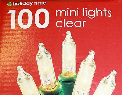 8 BOXES mini 100 white CLEAR, green wire string Christmas Lights ~ wedding fairy