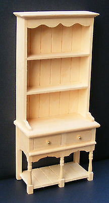 1:12 Scale Natural Finish 2 Drawer Dresser Dolls House Miniature Accessory 05