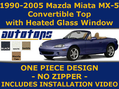 Miata Convertible Top And Heated Glass Color Choice  Install Video  90-05