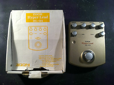 RARE ZOOM HYPER LEAD HL-01 DISTORTION EFFECTS PEDAL w/ORIGINAL BOX FREE SHIPPING