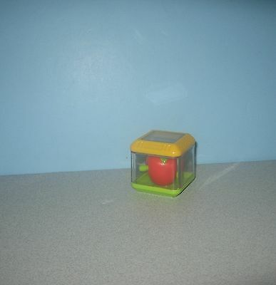 Fisher-Price Peek A Blocks Block Replacement Red Apple w/ Popping out Worm