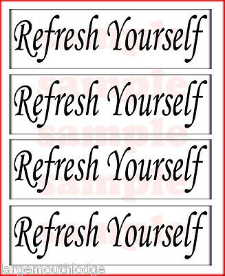 REFRESH YOURSELF 2 INCH GUMBALL MACHINE DECAL BLACK
