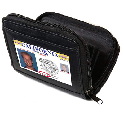 Accordion Business CARDS Credit ID LEATHER Wallet Holder Single Compartments