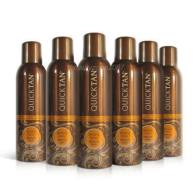 6 Bottles Body Drench Quicktan Quick Tan Bronzing Spray Medium Dark 170g 6 oz