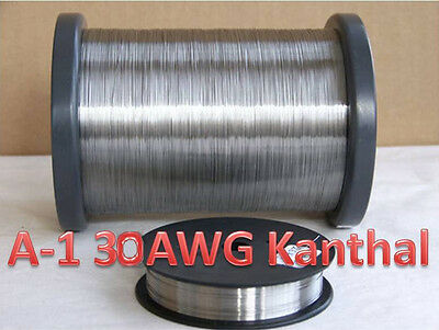 Kanthal A-1 Wire, 30 Gauge .01 Resistance heating wire -100 ft. spool