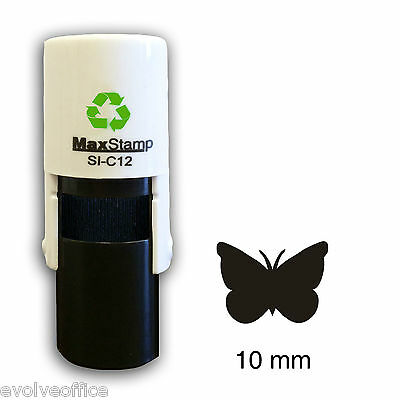 Loyalty Card Stamp Professional Quality Self Inking with BUTTERFLY image
