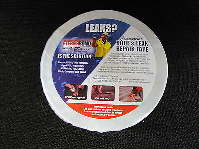 "Eternabond RV Rubber Roof Repair Tape 4"" x 10' Roll White"
