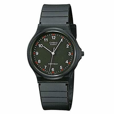 Casio MQ24-1B Men's Resin Band Casual Black Numbers Index Dial Analog Watch