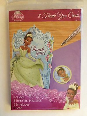 DISNEY PRINCESS AND THE FROG 8 Thank You Cards Birthday Party Supplies Favors