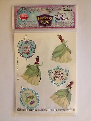 DISNEY PRINCESS AND THE FROG Tattoos Birthday Party Supplies Favors FREE S&H