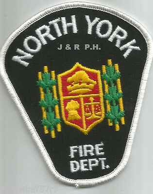 "Defunct - North York - White, Ontario, Canada  (3.5"" x 4"" size)  fire patch"
