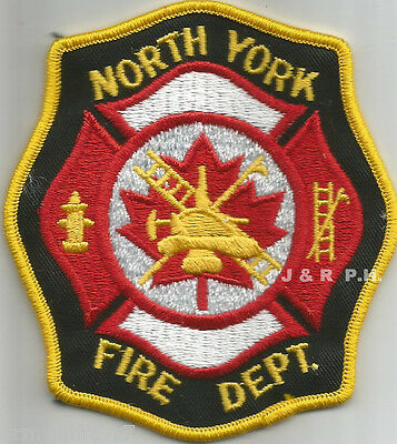 "Defunct - North York-Red/Gold, Ontario, Canada  (3.75"" x 4.25"" size)  fire patch"