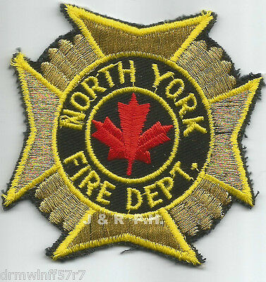 "Defunct - North York, Ontario, Canada  (3"" x 3"" size)  fire patch"
