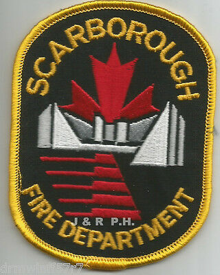 "Defunct - Scarborough-gold, Ontario, Canada  (3"" x 4"" size)  fire patch"