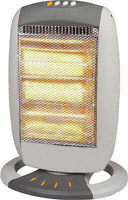 1200W 3 Bar Halogen Heater Winter Home Office Oscillating Rotating Work Dd1 New