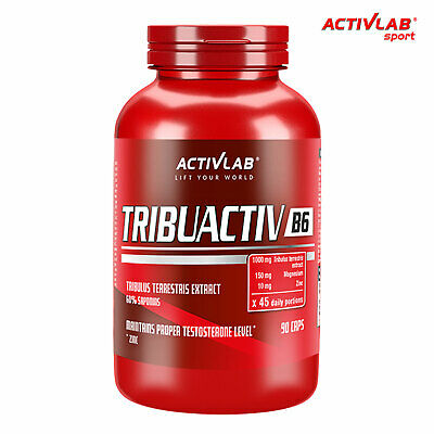 TRIBUACTIV B6 Anabolic Muscle Growth Strength Increase ZMA Testosterone Booster