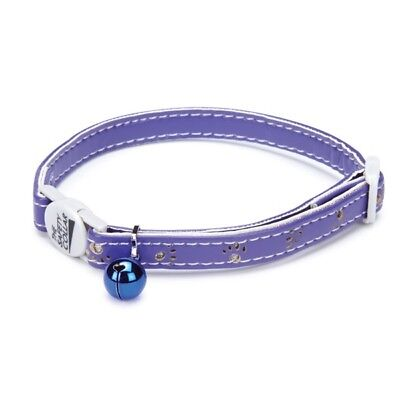 Savvy Tabby Sparkle Paw CAT Collar Jingle Bell Violet NEW