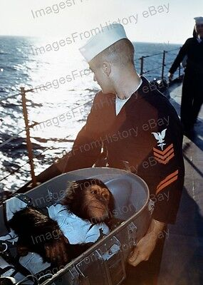 8x10 Print NASA Ham Aboard the U.S.S. Donnor #1a785