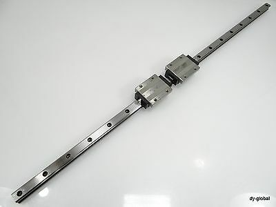 HSR25LA2UU+1050mm Used THK Linear Bearing 1Rail 2Block NSK LM Guide CNC Route