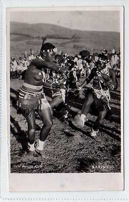(Lw475-388) Real Photo of Zulu Dancing Girls,  South Africa 1951 Used G-VG