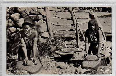 (Lx189-388) Real Photo of Zulus, Grinding Corn, Unused G-VG