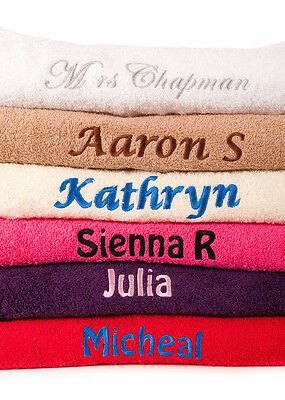 Personalised Embroidered Bath  Towel 450gsm 100% Cotton Ideal Gift