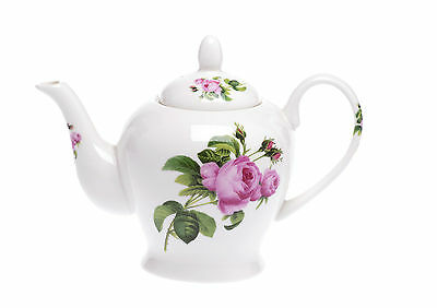 Bone China 16 Fl OZ/ 2 CUP Teapot - JUNE ROSE Kirsty Jayne China-HAND DECORATED