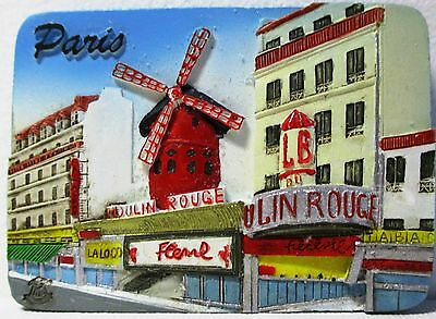 Fridge magnet Paris,french gift/souvenir 3D design Moulin Rouge / Day