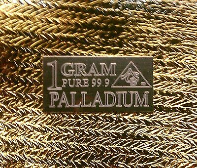 ACB PALLADIUM 1 GRAM BAR SOLID 99.9 PURE Pd BULLION MINTED