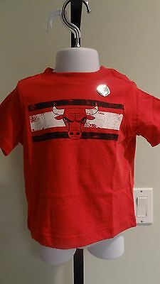 New NBA Chicago Bulls Toddler Red Short Sleeve Logo Tee:Size 12 mos-18 mos
