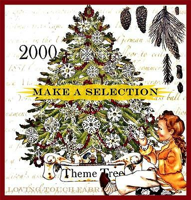 FRISCH VICTORIAN VINTAGE THEME CHRISTMAS TREE FABRIC PANELS  (MAKE A SELECTION)