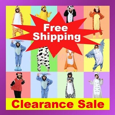 Animal Onesie Adult Kids Kigurumi Cosplay Costume Pyjamas Pajamas Sleepwear AU