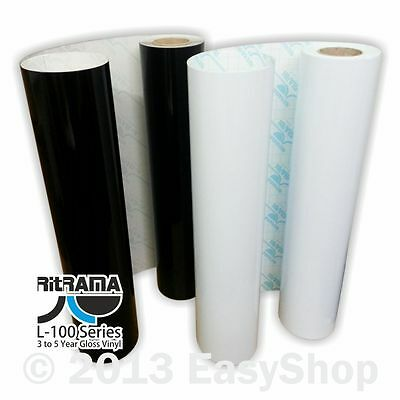610mm Ritrama Self Adhesive Sign Making Vinyl Black or White Sticky Back Plastic