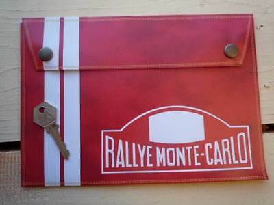 RALLYE MONTE-CARLO Handbook Holder Rally Document Folder Toolbag Mini Porsche
