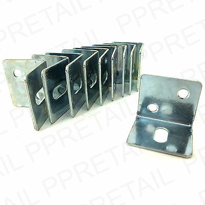 10 LARGE WORKTOP RIGHT ANGLE STEEL BRACKETS L Shape Kitchen Fixing 28x25mm