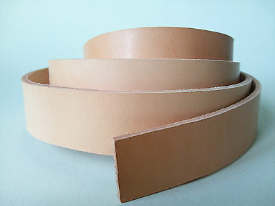 "50"" LONG natural 2-2.4mm THICK BRIDLE / BUTT LEATHER STRAP VEG TAN cow hide"