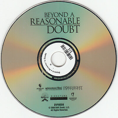 Beyond a Reasonable Doubt (DVD, 2009 No Cover)