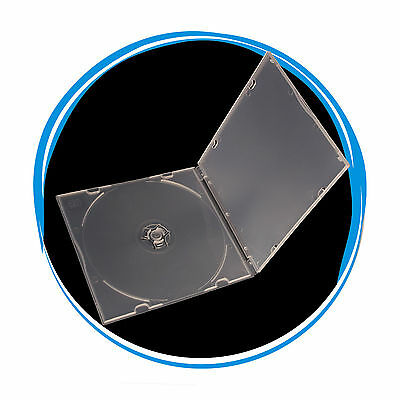 10 Slim 5.2mm Single Super Clear CD DVD R PP Poly Plastic Case with Sleeve
