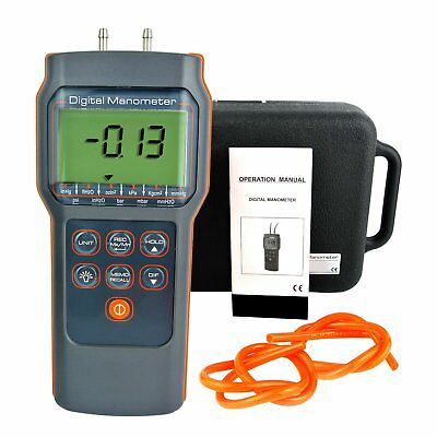 Digital Differential Air Pressure Manometer psi: ± 15.000 Gauge Tester HVAC Tool
