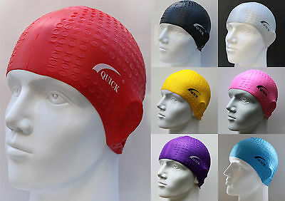 Men Women Adults Silicone SWIMSwimming Cap Big Large Suitable Long Hair SMC02