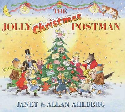 The Jolly Christmas Postman by Janet Ahlberg (English) Hardcover Book Free Shipp