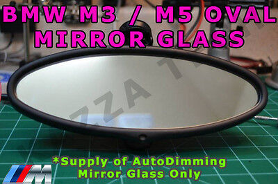 BMW E46 M3 & E39 M5 Oval Rear View Mirror Auto-Dimming Replacement Glass Cell