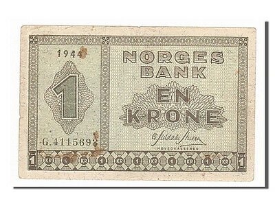 [#154307] Norway, 1 Krone, 1944, KM #15a, EF(40-45), G4115693