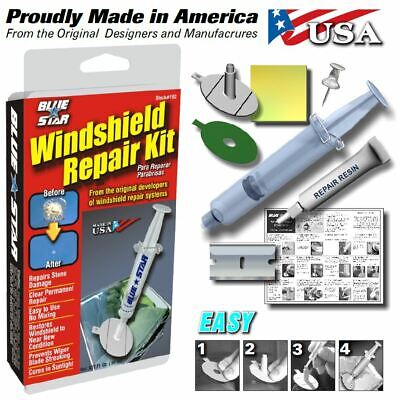 WINDSHIELD  REPAIR KIT STONE DAMAGE CHIP BULLSEYE ROCK CHIP