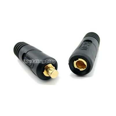 Welding Cable Twist-lock Connector Pair Dinse #6-#4 16-25mm | US Seller Fast