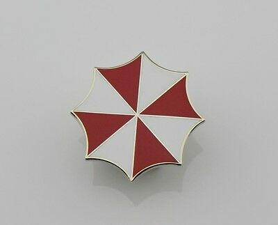 Resident Evil Umbrella Corporation Embroidered logo metal badge pin