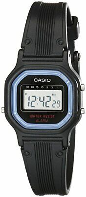 Casio LA11WB-1 Women's Black Resin Band Daily Alarm Chronograph Digital Watch