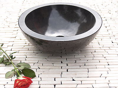 Black Marble Stone Basin 40 cm ( wa002 ) bathroom vanity washbasin