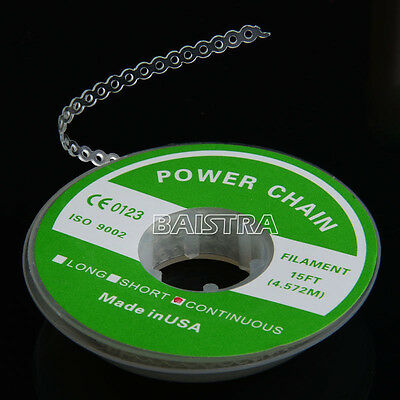Dental Orthodontic Continuous Type Elastolink Power Chain Clear White